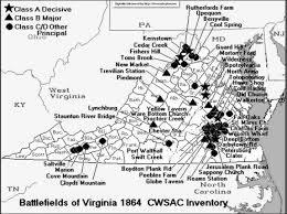 A Map Of Virginia by Battle Of Saltville Civil War