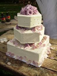 light purple flower petals wedding cake wedding cakes