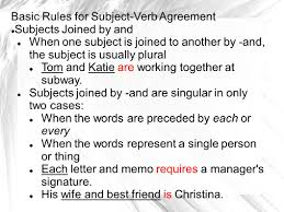 chapter 10 subject verb agreement level 1 locating subjects