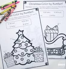 christmas color number division