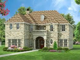 European Home Design Inc Narrow Lot European Design With Safe Room 36237tx