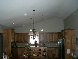 Recessed Kitchen Lighting Ideas Kitchen Lighting Ideas Sloped Ceiling With For Pitched Ceilings