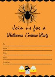 Halloween Costume Party Invitations Spooky Halloween Costume Party Invitation Instant Download Fill