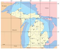 Map Of Upper Michigan by Geography Of Michigan Wikipedia