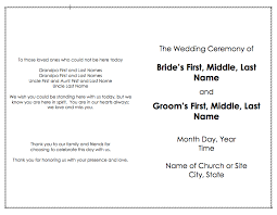 church wedding program template programs posts weddingbee