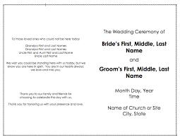 Program Template For Wedding Programs Posts Weddingbee Blog