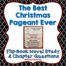 the best pageant novel study flip book project