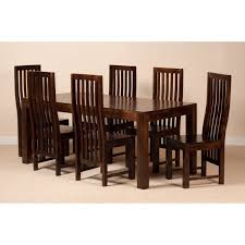 Six Seater Dining Table And Chairs Six Seater Dining Set With High Back Chairs Sublime Exports