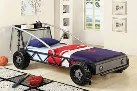 Race Car Beds Speedy Racer Silver Car Twin Bed Andrew U0027s Furniture And Mattress