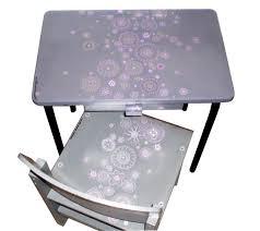 petit bureau ecolier petit bureau ecolier gris fleurs nouvelles epiceries récréatives