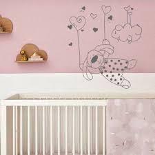 sticker chambre bébé fille stickers chambre enfant lapin dans les nuages