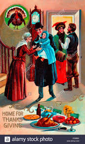 thanksgiving holiday card home for thanksgiving vintage card family get together for the