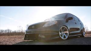 stanced toyota slammed toyota matrix youtube