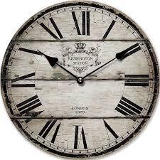 horloge murale london 1879 shabby cuisine 30 cm tinas collection