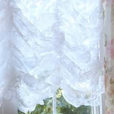 white lace balloon curtains home decoration ideas