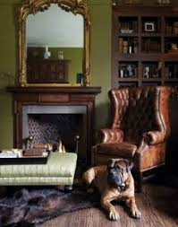 from ralph lauren paint gilded frames against a front entry