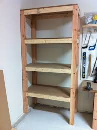 Corner Storage Shelves by Simple Custom Diy Wood Garage Storage Shelves In The Corner Beside