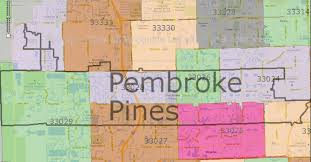 Zip Code Map Orlando by Pembroke Pines Zip Code Map Zip Code Map
