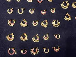 indian traditional nose pins designs
