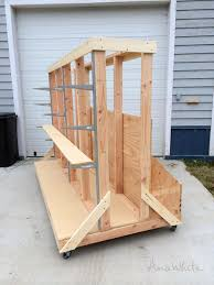 ana white build a ultimate lumber and plywood storage cart