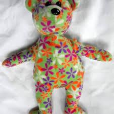 best ty beanie babies groovey flower print bear for sale in erie