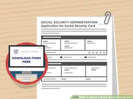 How To Make Fake Report Card - how to report a stolen social security card 15 steps