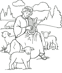 sheep coloring pages and david the shepherd coloringstar