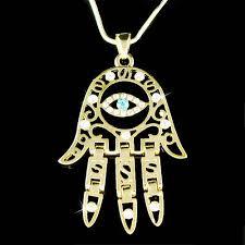 eye charm necklace images Big swarovski crystal jewish hamsa hand hamesh fatima evil eye jpg