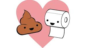 funny hearts love simple background threadless toilet paper