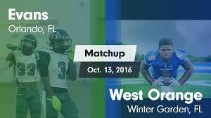 matchup evans vs west orange 2016 evans high highlights