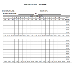 Excel Template For Timesheet 13 Monthly Timesheet Templates Free Sle Exle Format