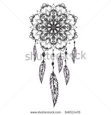 indian dream catcher sketch style vector stock vector 294893678