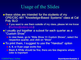 cpe class cpe csc 481 knowledge based systems ppt