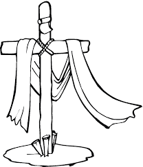 jesus cross coloring page free download