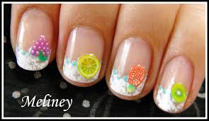 summer nail art fruit u0026 flower fimo design easy konad french tip