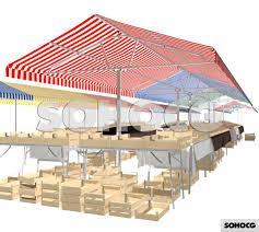 Market Stall Canopy by Market Stall 3d Model Sohocg