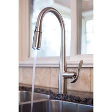 innovative hands free kitchen faucet in interior decorating