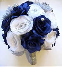 amazon com 21 pcs wedding silk flower bouquet bridal package