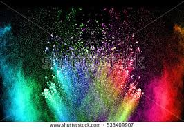 abstract color powder explosion on black stock photo 533409907