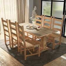 sedia sala da pranzo vidaxl 7 pz set grande tavolo e sedie sala da pranzo in teak