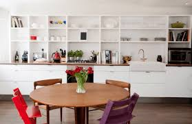 decorating ideas white modern minimalist kitchen open shelving