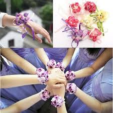 wrist corsage supplies new beautiful bridal bridesmaid corsage ribbon wrist flowers