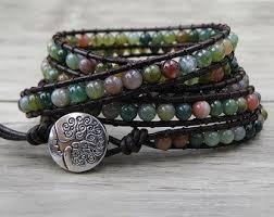 gemstone bead bracelet images Beaded bracelets etsy jpg