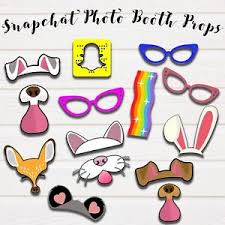 photo booth party props snapchat photo booth party props pdf jpeg printable ebay