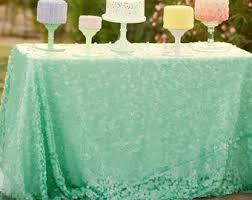 Mint Green Table Cloths Mermaid Tablecloth Etsy