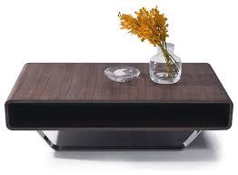 modern walnut coffee table innovative rectangular coffee table contemporary walnut veneer