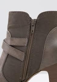 womens boots zalando field ankle boots grey zalando co uk