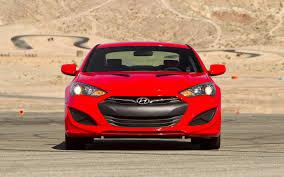 hyundai genesis road test 2013 hyundai genesis coupe 2 0t r spec test motor trend