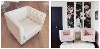to decorate nate berkus for target tufted armchair in blush pink