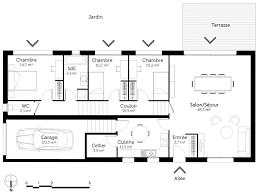 plan de cuisine en u plan maison en pente sur un terrain archi models and sketches de